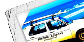 Surfing Lesson's Car logo